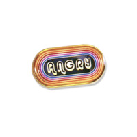 Angry Vintage Enamel Pin