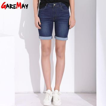 GAREMAY High Waist Shorts Women Denim Summer Short Jeans Plus Size Stretch Cotton Casual Short Femme Shorts For Women Clothing