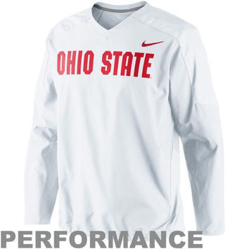 Nike Ohio State Buckeyes Fourth Down Performance Pullover Wind Jacket - White