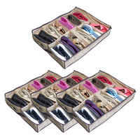 Evelots Set Of 4 (12 Pair) Of Shoes Organizers Closet Under Bed,Holds 48 Pairs