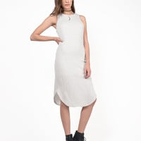Ribbed Midi Knit Tank Dress
