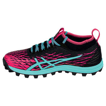 ASICS® GEL-FujiRunnegade™ 2 | Women's - Black/Pool Blue/Azalea