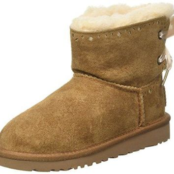 UGG Infant/Toddler Girls' Dixi Flora Perf Boot Toddler  UGGboots with heel