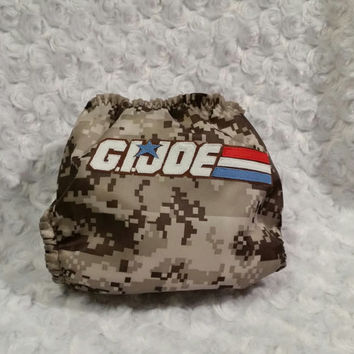 GI Joe All In One (AIO) Cloth Diaper - One-Size or Newborn, s, m, l