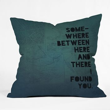 Leah Flores Here And There Two Throw Pillow
