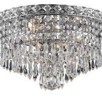 Karci - Flush Mount (4 Light Modern Flush Mount Crystal Chandelier) - 2148F14