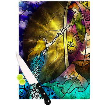 "Mandie Manzano ""Fairy Tale off to Neverland"" Cutting Board"
