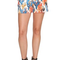 CeCe 'Cactus Sketches' Print Stretch Cotton Shorts | Nordstrom