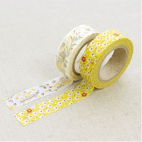 Yellow Flower Washi Tape Set