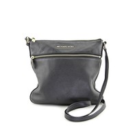 MICHAEL Michael Kors Womens Bedford Leather Crossbody Handbag Black Medium