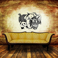 Sea Turtle Panda Elephant Rhino Eagle Wild Animals Style C Vinyl Wall Decal 22375