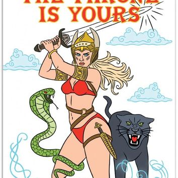 The Throne is Yours She-Ra Birthday Card