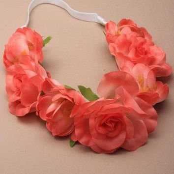 Large Flower Headband Garland Hippie Festival