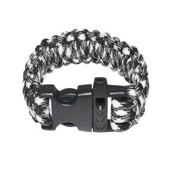 Paracord Survival Bracelet With Survival Whistle Fits 7-9 Inch Wrists