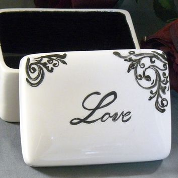 Ceramic Love Keepsake Box