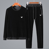 Boys & Men Armani Top Sweater Pullover Pants Trousers Set Two-Piece