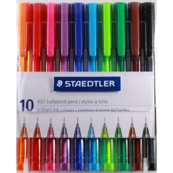 10 Color Ballpoint Pen Set [Staedtler Markers & Pencils]