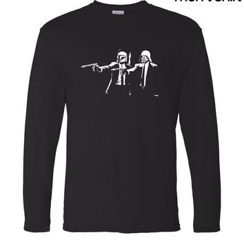brand clothing Banksy Star Wars Pulp Fiction men's long sleeve T-shirts 2017 new autumn 100% cotton hip hop crossfit man t shirt
