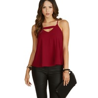 Burgundy Take Note Tank