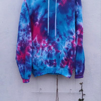 Galaxy Tie Dye Hoodie, bright colors, blue, pink