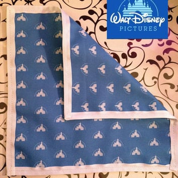 Custom Disney Castle Pocket Square