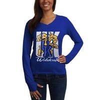 Kentucky Wildcats Ladies Andromeda Long Sleeve V-Neck T-Shirt - Royal Blue