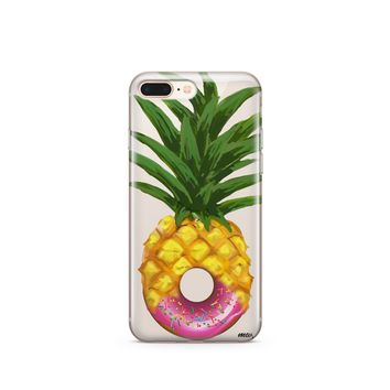 Donut Pineapple - Clear TPU Case Cover