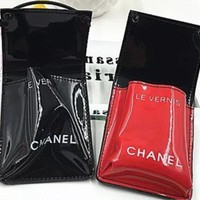The Chanel trend fashion patent leather handbag with color
