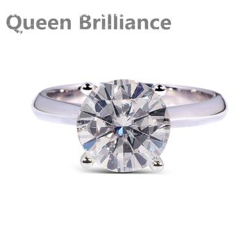 14KT White Gold Luxury 2 Ct FGH Colorless Lab Grown Diamond Ring