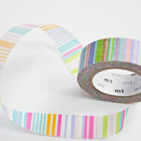 Washi Tape Pastel Stripe - Candy Washi Tape - Craft Tape in Melbourne, Australia