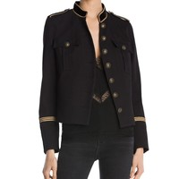 The Kooples | Black Cover Military-style Blazer | Lyst