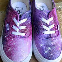 Custom Painted Galaxy Shoes For Kids by KillerConstellations