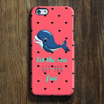 Dolphin Love the Sea iPhone 6s Case iPhone 6s Plus Case iPhone 6 Cover iPhone 5S 5 iPhone 5C iPhone 4/4s Galaxy S6 Edge Galaxy s6 s5 Galaxy Note 5 Phone Case 163
