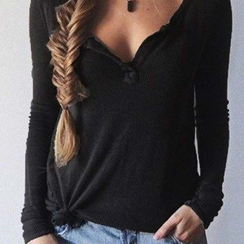 Free Love Basic Plunging Top