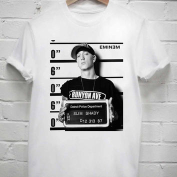 Custom Tshirt Eminem Mugshot screenprint