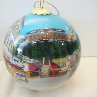 Ketchikan Alaska Christmas Ornament Hand Blown Glass Holiday Home Decor
