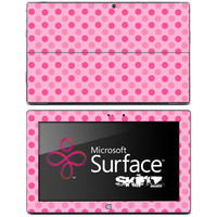 Pink Polka Dots Skin for the Microsoft Surface