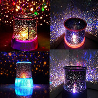 Novelty Led Night Light Table Lamps For Bedroom Amazing sky star projector home decor Lighting Baby children Kids Sleeping Lamps