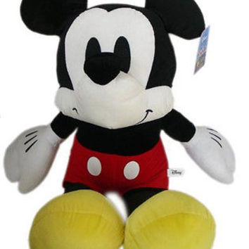 "Walt Disney 34"" Jumbo Mickey Mouse Plush Stuffed Animal Toy-New with Tags!"