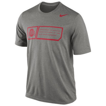 Nike Ohio State Buckeyes 2014 Football Sideline Training Day Legend Dri-FIT Performance T-Shirt - Gray