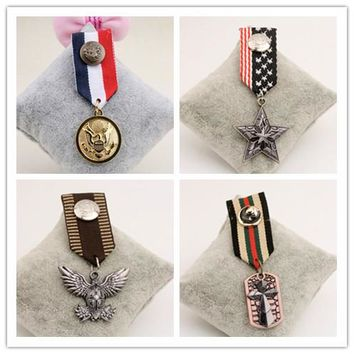 B27 vintage retro jewelry men Handmade steampunk costume luxury blazer Jewelry 2016 Brooch badges Pins Broach For Women Lapel