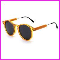 Men Vintage Round Steampunk Sunglasses Women Designer Retro Sun Glasses futebol oculos de sol