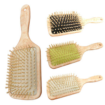 Round / Sharp Tooth Wooden Combs Paddle Brush Wooden Hair Care Spa Massage Antistatic Comb For Women