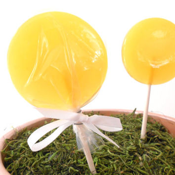 Honeysuckle Gourmet Lollipops - Pick Your Size - Spring Summer Party Favors - Luxe Lollies - Floral Party Theme - Flowers