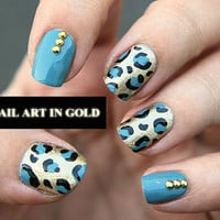 Nails Art - 1000 Pcs Gold Round Mix of Studs - Iron On, Hot Fix, or Glue On