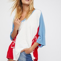 Free People We The Free Sporty Splice Tee