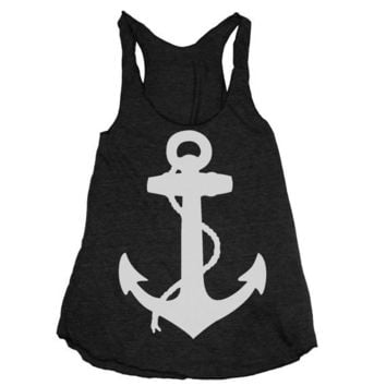 Womens NAUTICAL ANCHOR american apparel TriBlend by happyfamily