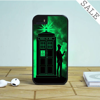 Light Green Clouds Doctor Who Tardis For iPhone | Samsung Galaxy | HTC Case