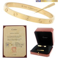 One-nice? BRAND NEW Ladies 2017 Cartier LOVE Screw Size 17 18K Yellow Gold Bangle Brac