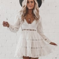 My Favorite Color Is You White Ruffle Dress